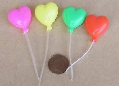 1:12 Scale Single Dolls House Plastic Heart Shaped Balloon Party Accessory