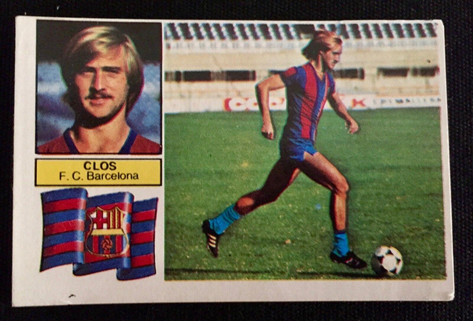 CROMO CLOS COLOCA F.C.BARCELONA ESTE 82-83 LIGA 1982-1983 SIN F.C.B. EN ESCUDO