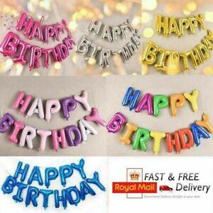 Joyeux-Anniversaire-Ballons-Banniere-Ballon-Bunting-Party-Decoration-gonflage-decor