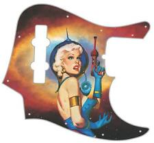 J Bass Pickguard Custom Fender Graphic Graphical Guitar Pick Guard Ray Gun Girl