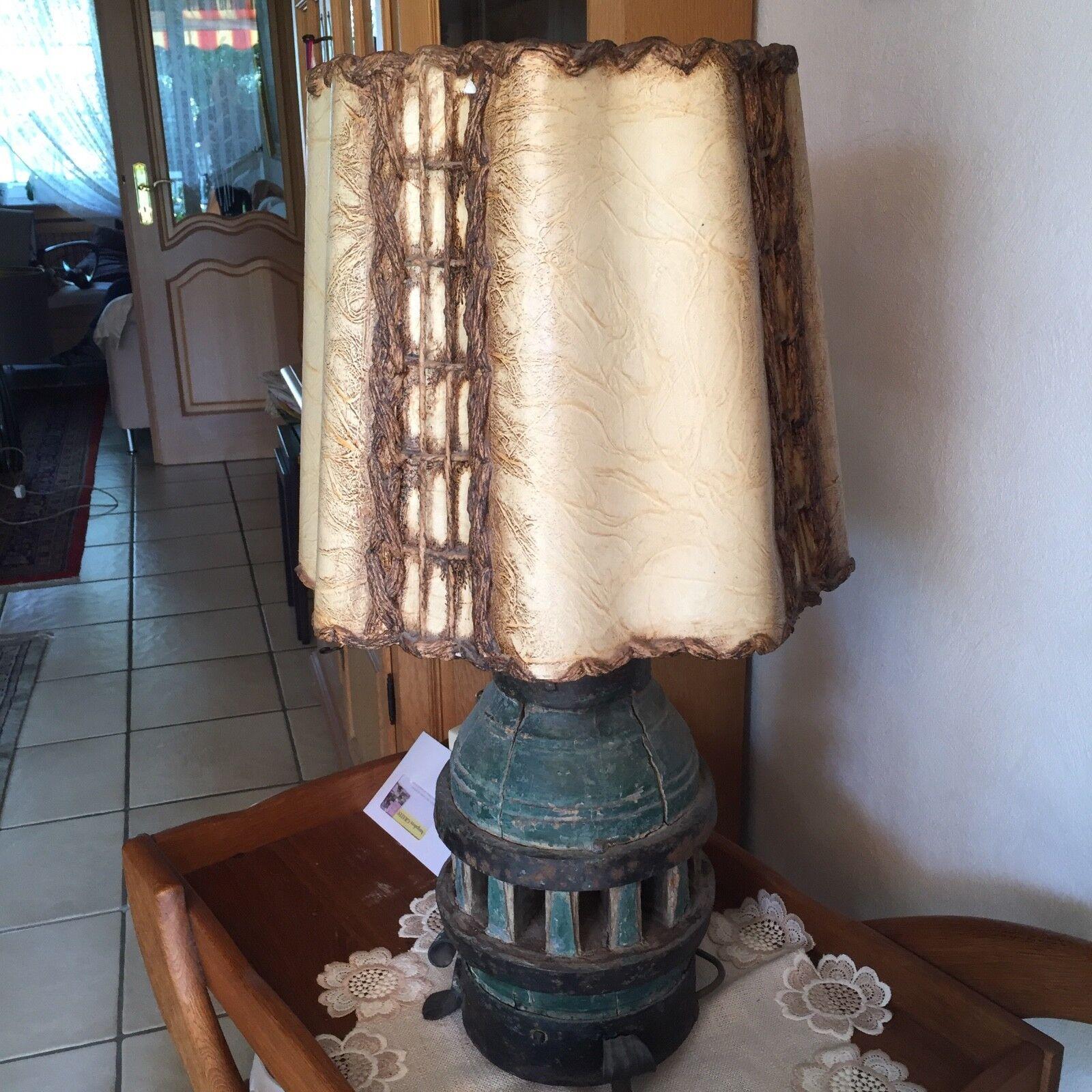 Lampe mit alter Radnabe, top Zustand | Louis, ausführlich  | Sehr gute Farbe  | Für Ihre Wahl