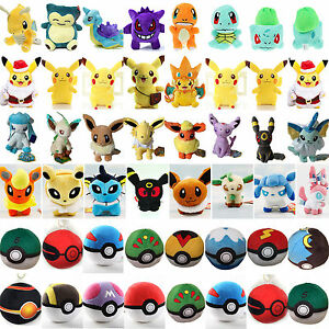Rare-Pokemon-Pikachu-Eevee-Soft-Plush-Stuffed-Teddy-Doll-Kids-Toys-Collection