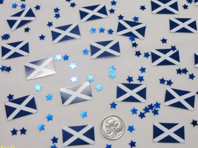 Wedding Table Scatters Confetti Flags - Scotland