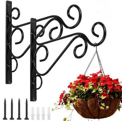 Garden Flower Pot Hanger Wall Hanging Rack Iron Holder Plant Bracket Metal Hook
