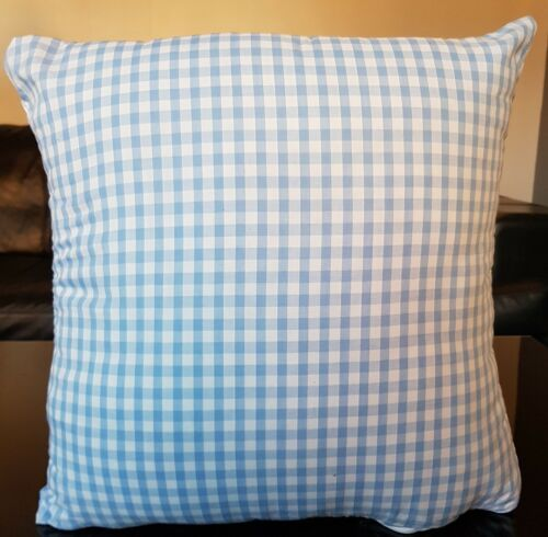 """Blue and White Country Chequed Cushion Covers 16 x 16/"""" 40 x 40 cm"""
