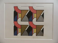 """Roy Lichtenstein """"Modular painting with four panels"""" Lithograph plate signed"""