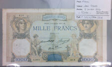 BILLET 1000 FRANCS CERES ET MERCURE - 8-7-1937 RARE!!!!!