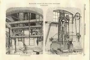 1895-Radial-Drill-Soho-Foundry-Blotting-Machine-Main-Sewerage-Richmond