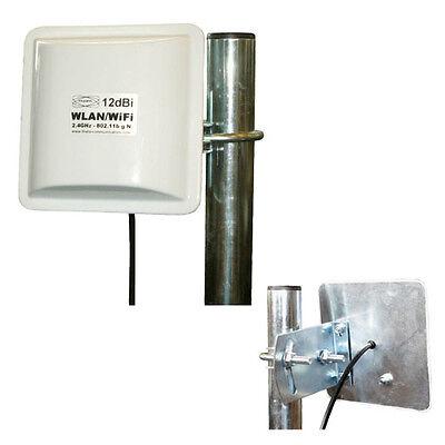 WLAN Antenne Panel 12dBi 1M Verstärker Booster TP-Link Dlink Netgear NEU