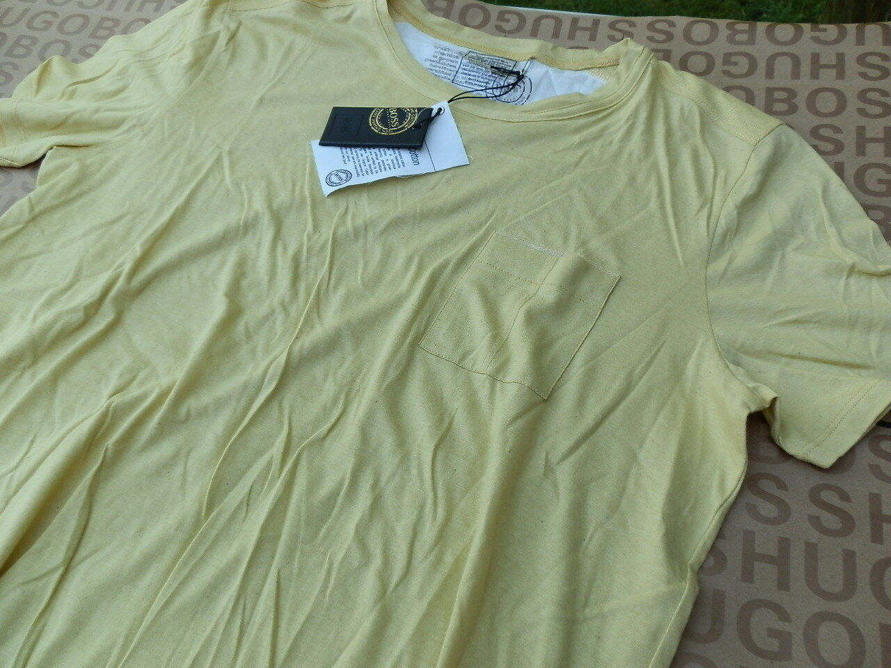 NUOVA NUOVA NUOVA Hugo Boss Uomo Giallo ORGANIC COTTON POLO ambientale Friendly T-Shirt M L c491e7