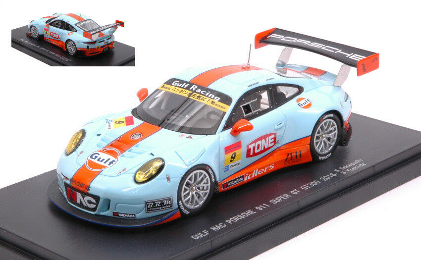 Porsche 911 Gt3 R  9 8th Super Gt300 2016 R. Sakaguki   H. Yoshida 1 43 Model