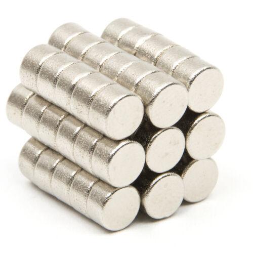 50 Stk Starke Neodym Magnete N35 5mm x 3mm Rund Magnet Für Pinnwand Kühlschrank
