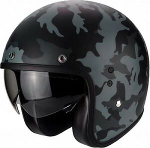 Casque-Scorpion-Belfast-Mission-Couleur-Noir-Mat-Gris-Taille-M-57