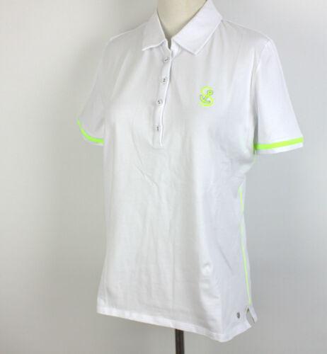 Strandfein Polo Blanc Taille 42 NOUVEAU neondetails