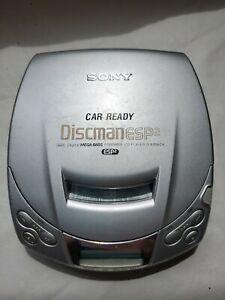 Sony Discman CD Player ESP2 Digital Mega Bass D-E200 Portable Silver