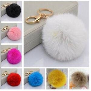 HOT-Real-Rabbit-Fur-Key-Ring-Car-Keychain-Mobile-Phone-Tag-Charm-Bag-Accessory