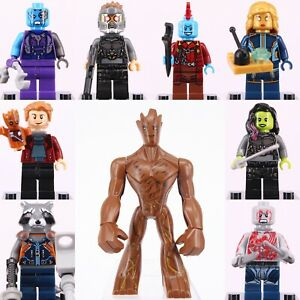 10 x MINI FIGURES FIT LEGO MARVEL GUARDIANS OF THE GALAXY AVENGERS MINIFIGS 2020