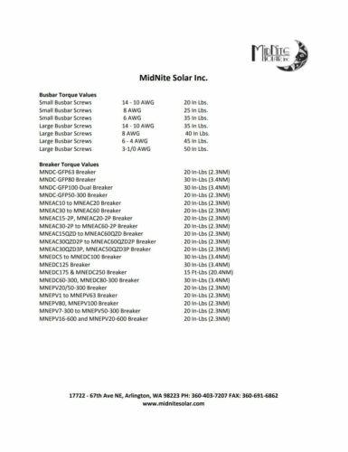 Midnite solaire mndc-GFP63 Ground Fault Disjoncteur