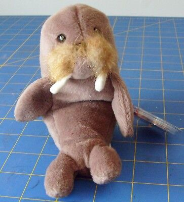 7 Inch 2019 New Style 1996 Ty Original Beanie Babies Jolly The Brown Walrus Style 4082 W/tags Toys & Hobbies