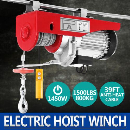 1500 Lb Overhead Electric Hoist crane lift garage winch w//remote 110V