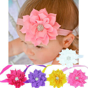 toddler baby girl rhinestone flower headband hairwear hair
