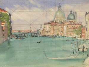 Laurence-H-F-Irving-1897-1988-Mid-20th-Century-Watercolour-Venetian-Canal