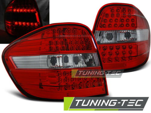 2005-2008 Rot-Klar Heckleuchten Mercedes W164 ML M-Klasse LED Rückleuchten