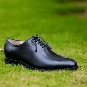Dress-Shoes-Wholecut-Oxford-Men-Black-Brown-Formal-Party-Handmade-Calf-Leather