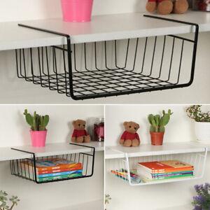 1X-Under-Shelf-Storage-Basket-Holder-Rack-Hanger-Cupboard-Organizer-Space-Saving