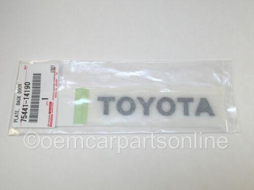 Genuine Toyota 93-98 Supra Turbo A80 Rear Liftgate Emblem Badge Decal OEM Black