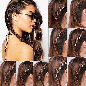 5Pcs-Women-Hip-Hop-Hairpin-Braid-Shell-Star-Cross-Hand-Hair-Clips-Jewelry-Access