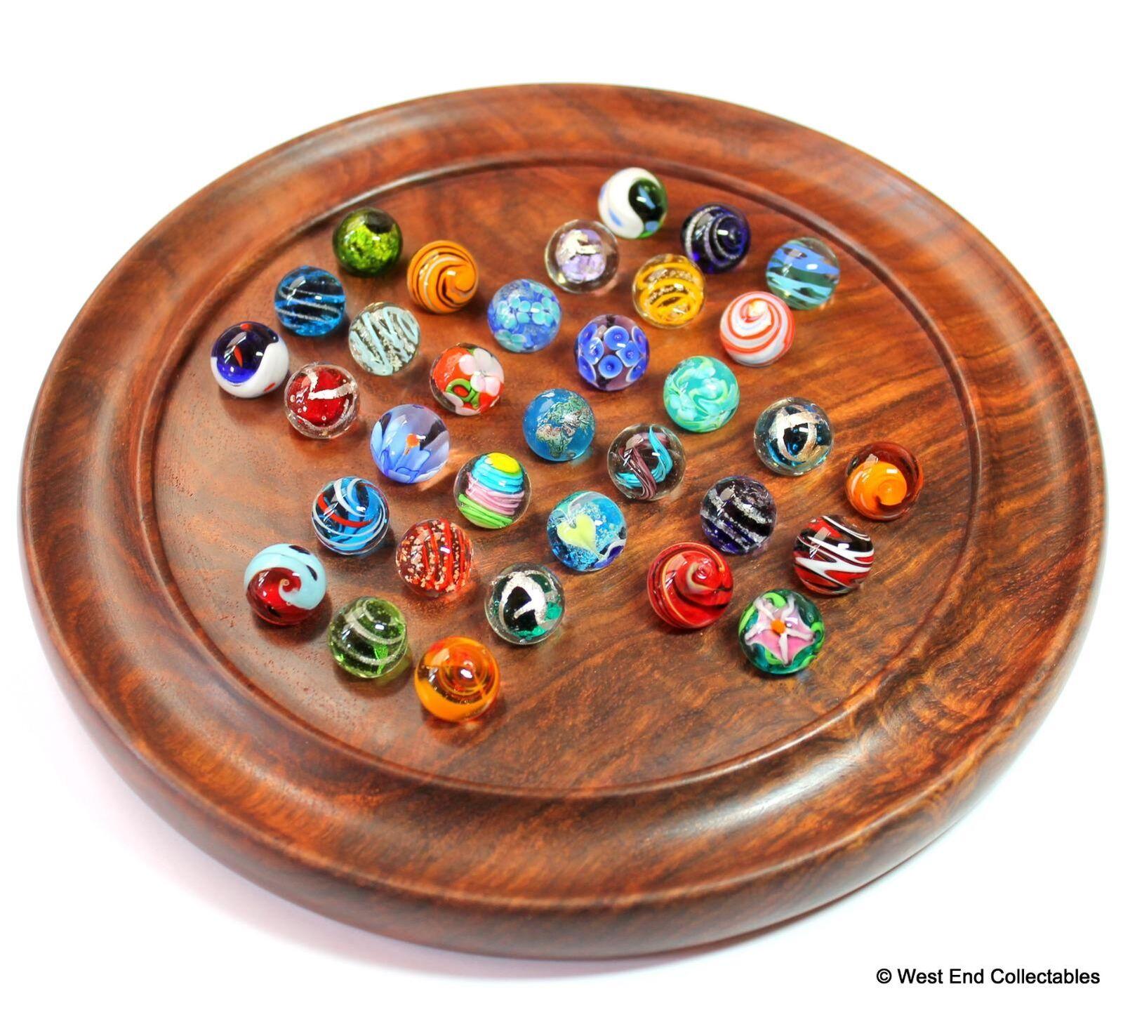 Juego de puzzle juego juego juego solitario mármoles Hecho a Mano - 33 X 16mm vidrio arte del juguete de mármol  con 60% de descuento