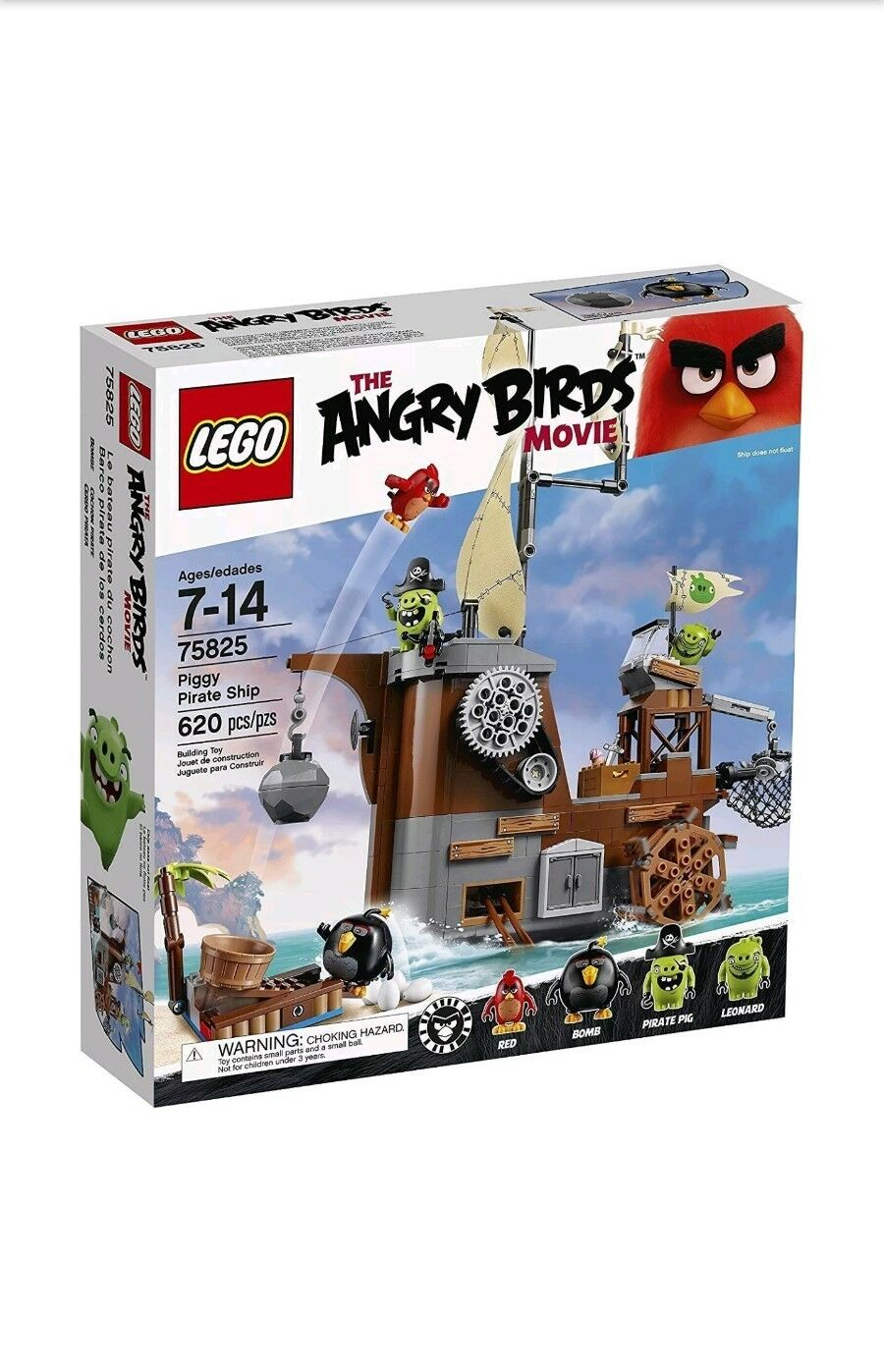 Lego 75825 Angry Birds - Piggy - Pirate Ship - BRAND NEW & SEALED