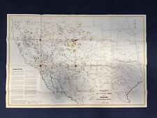 Original Cold War map - Showing Uranium and Other Mineral Deposits