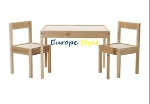 NEW IKEA LATT CHILDRENS TABLE AND 2 CHAIR SET WHITE PINE