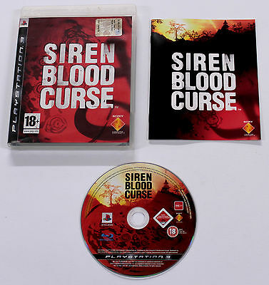 Sony PLAYSTATION 3 PS3 SIREN BLOOD CURSE 2008 Sony BCES-00294 ITALIANO