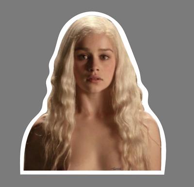 Daenerys Targaryen Emilia Clarke Sticker Game Of Thrones Vinyl Decal Nude Sc Ebay
