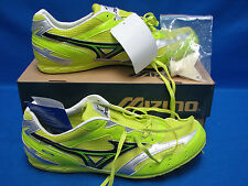 Mizuno OSAKA 8KM-86409 Spikes Running Shoes Sixe 11.5 Neon Yellow & Green