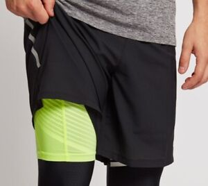 newest collection exclusive range nice cheap Details about NIKE PHENOM 2-in-1 PRO Reflective Black Volt Running Shorts  7