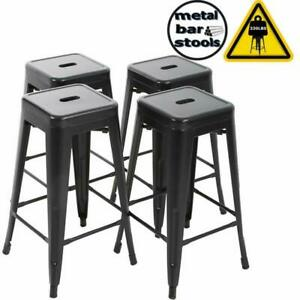 Terrific Details About Bestmassage Bar Stools Metal Counter Height 30 Industrial Stackable Modern Back Beatyapartments Chair Design Images Beatyapartmentscom
