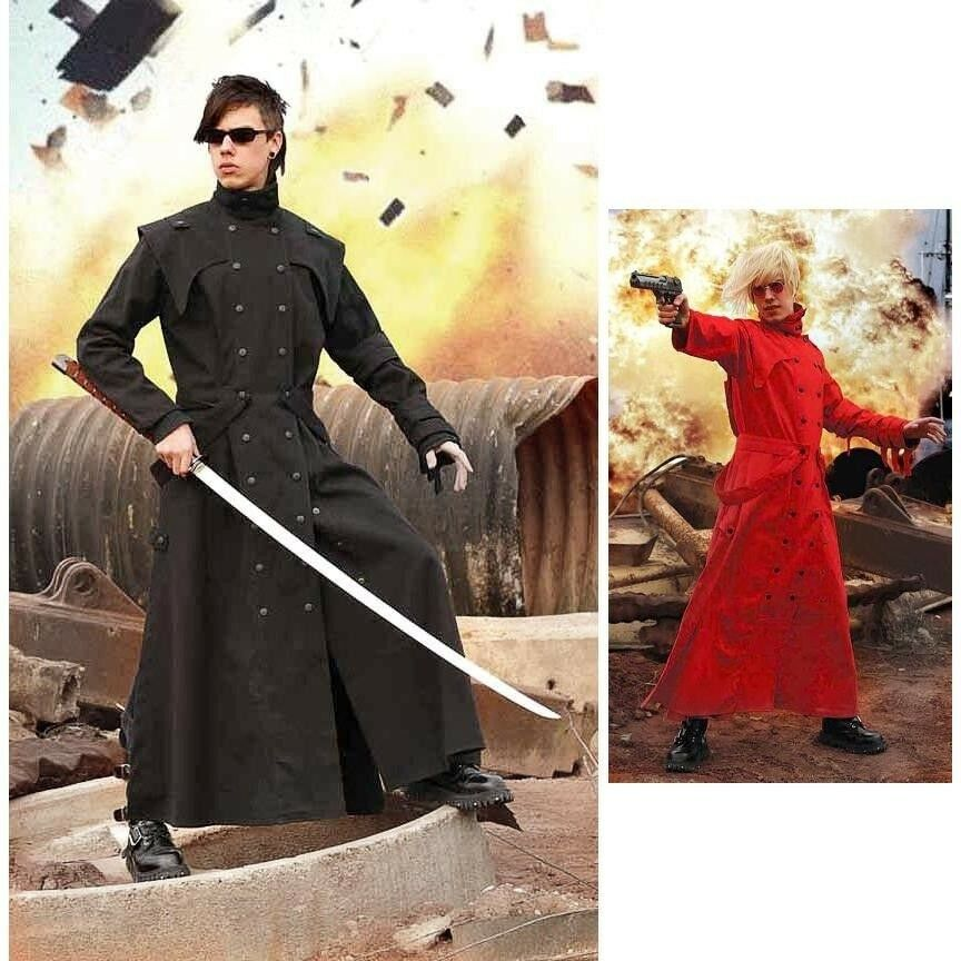 Anime / Western Duster Extra Long Coat Ideal for Stage, Re-enactment and Costume