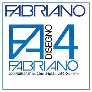 3 PZ Album F4 Fabriano da disegno 24X33 cm da 20 fogli Ruvido