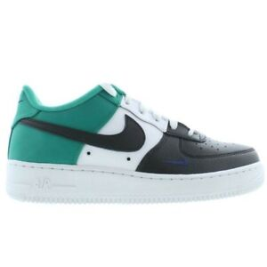 4278be62a0 Nike Big Kids AIR FORCE 1 LOW LV8 GS Shoes Black/Neptune Green ...
