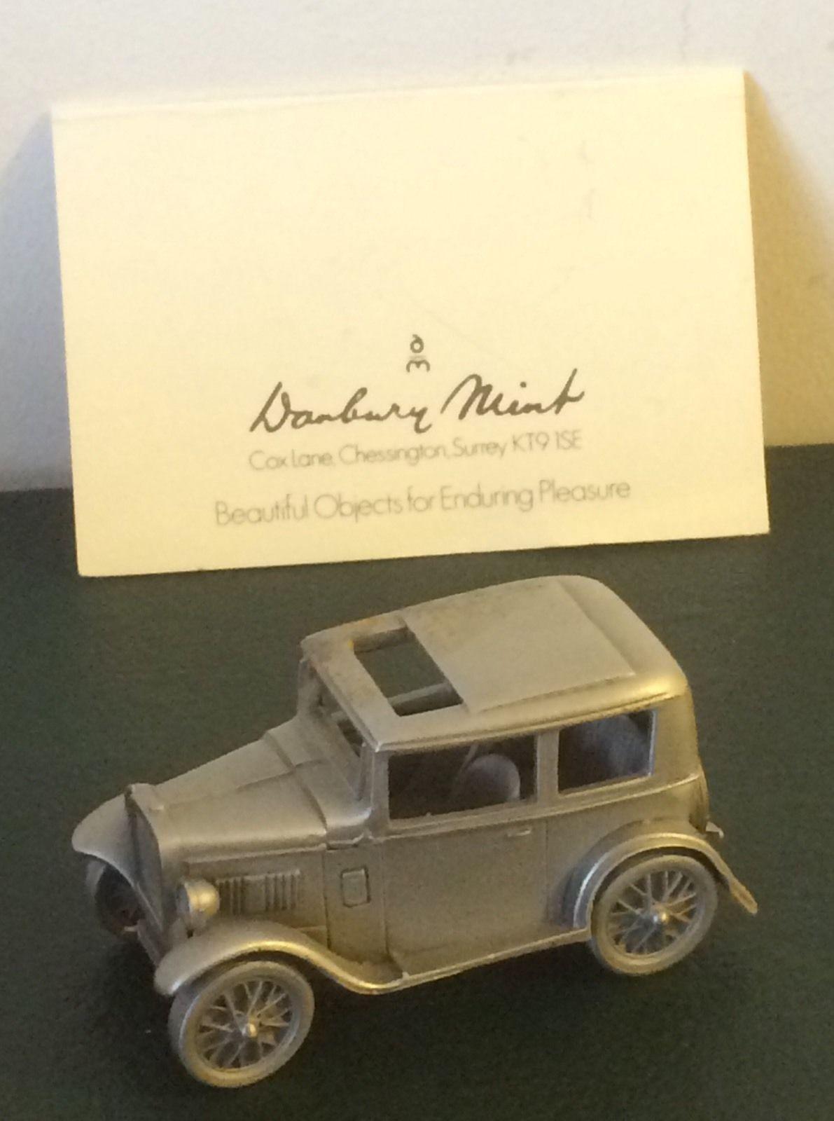 DANBURY Comme neuf 1934 Austin 7 étain modèles avec papiers