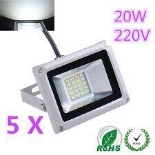 5X 20W LED Cool White SMD Flood Light Outdoor Garden Lamp High Power 220V IP65