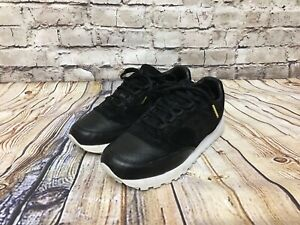 size 40 de380 221b1 Details about Saucony Jazz Mens Original Black Leather Sneakers S70264-1  Size 9.5 Made In USA
