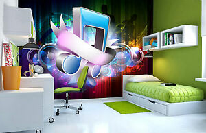 3D Music Notes Wall Mural Photo Wallpaper GIANT DECOR Paper Poster Free Paste