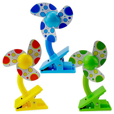 Safe Soft Blades Flexible Clip On Mini Fan for Baby Pram Stroller