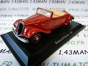 TRA03-voiture-1-43-atlas-traction-NOREV-Traction-22-cabriolet-1934