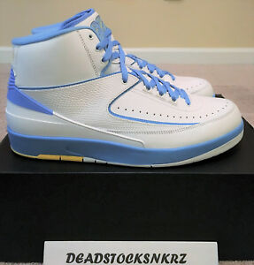 d46195e5246c Nike Air Jordan 2 II Retro Melo White University Blue 385475 122 ...